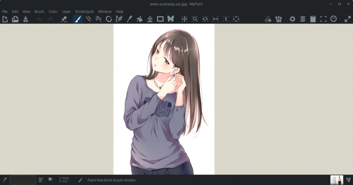 Install MyPaint di Linux