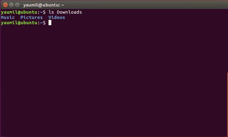 Melihat Isi Sebuah Sub Folder - ls