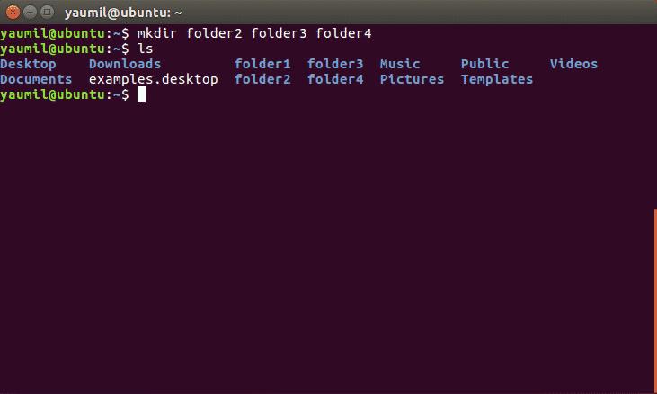 Membuat Banyak Folder Bersamaan