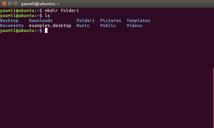 Membuat Folder Menggunakan Perintah mkdir