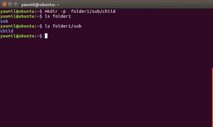 Membuat Folder Secara Reference Menggunakan Perintah mkdir