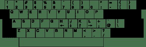 Layout Keyboard Lear-Siegler ADM-3A