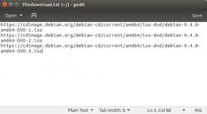 Membuat File Daftar Link File yang Akan Diunduh