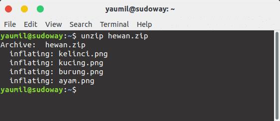 Cara Ekstrak File Zip