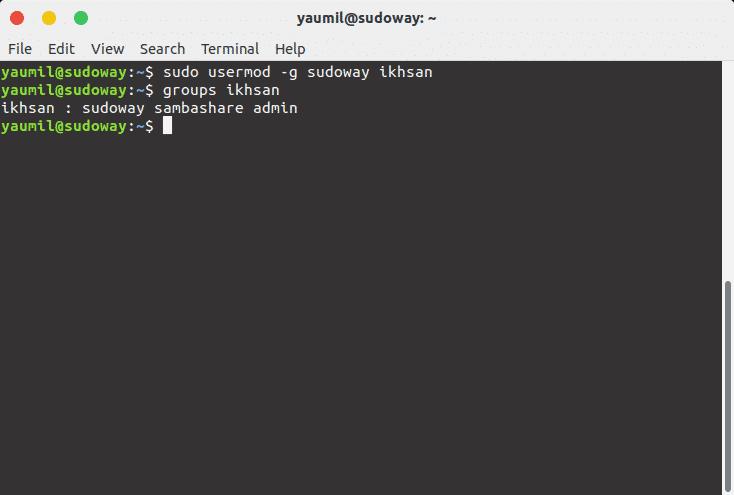 Mengubah Group Primary dari Sebuah User di Linux