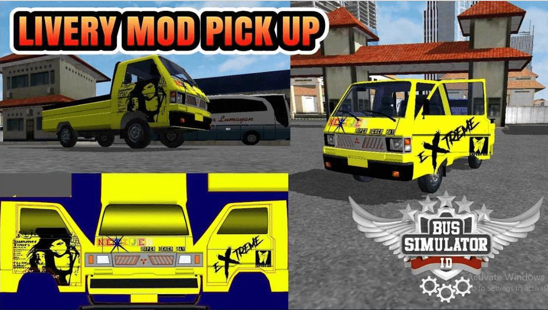 Download Livery Pickup Bussid Mod Shd Keren Dan Terbaru