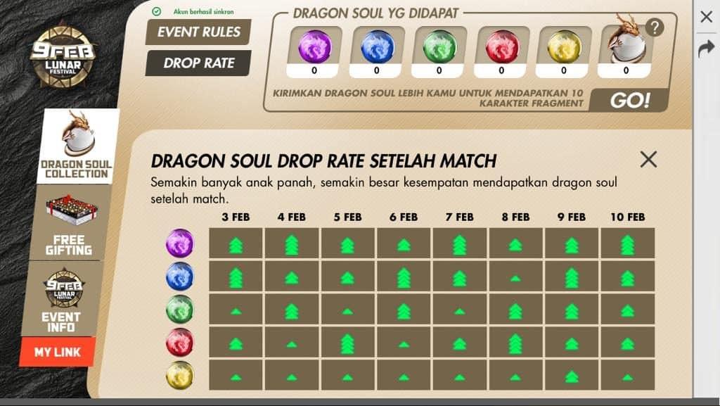 dragon soul blue free fire