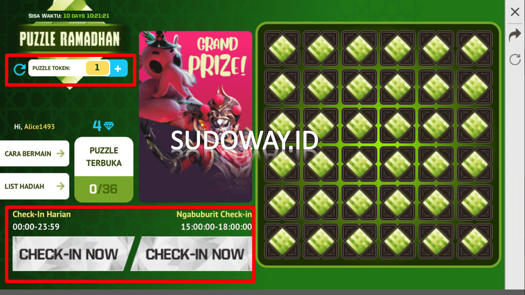 Puzzle ramadhan free fire