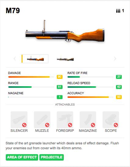 m79 grenade launcher ff
